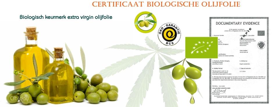 Certificaat Biologische Olijfolie