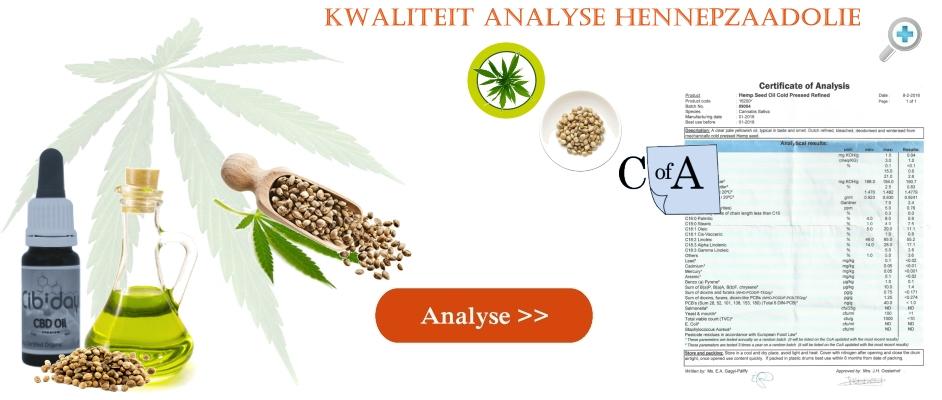 Labtest Kwaliteit Analyse Hennepzaadolie
