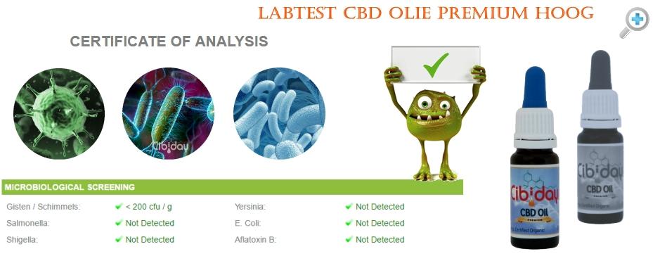 Microbiologische Test CBD Olie Premium
