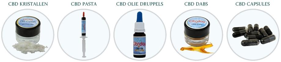 Soorten CBD Olie Extracten
